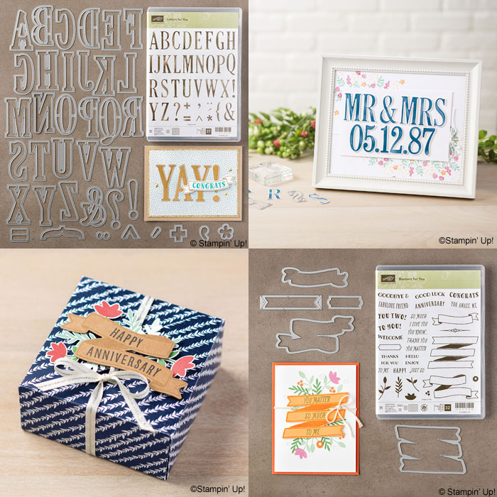 New Catalog   Two of my favorites from the new catalog, Letters for You Bundle and Banners for You Bundle from Stampin' Up!