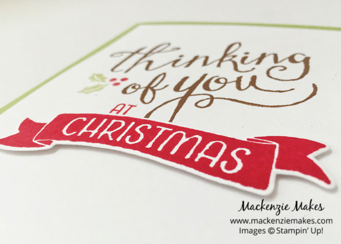 Merry Christmas in July – Make a Christmas card using the Time of Year stamp set. | #mackenziemakes #makewithme #stampinup | www.mackenziemakes.com