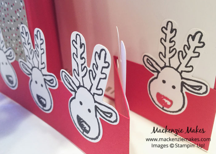 Cookie Cutter Christmas Double Z-Fold Card – Make a double z-fold card using the Candy Cane Lane suite and Cookie Cutter Christmas bundle from Stampin Up. | #mackenziemakes #makewithme #stampinup | www.mackenziemakes.com