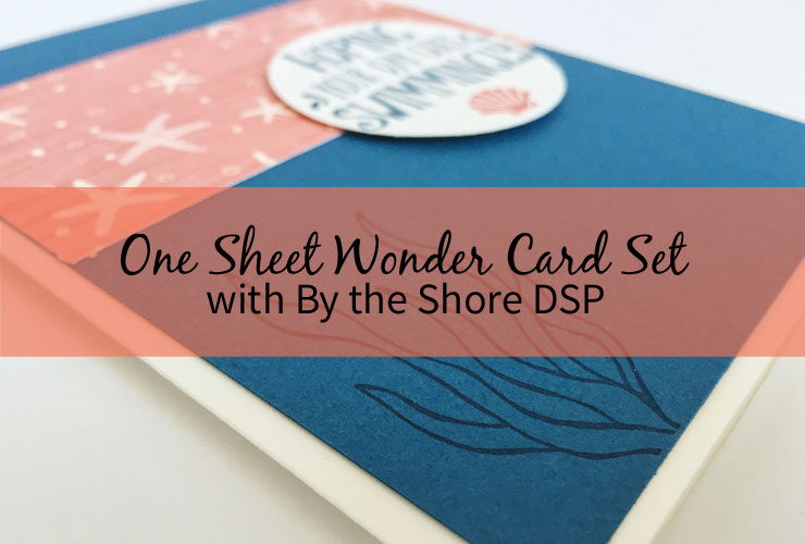One Sheet Wonder Card Set with By the Shore DSP