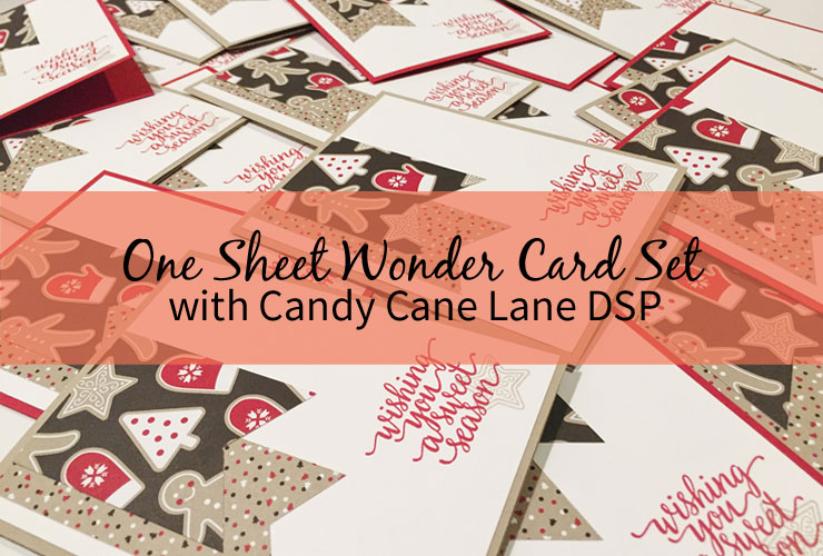 One Sheet Wonder Card Set with Candy Cane Lane DSP
