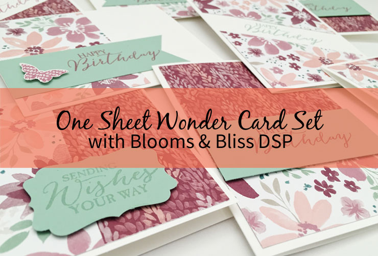 One Sheet Wonder Card Set with Blooms & Bliss DSP