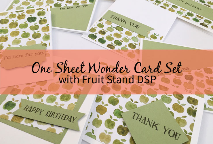 One Sheet Wonder Card Set with Fruit Stand DSP