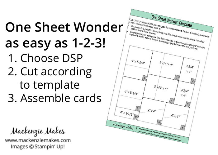 One Sheet Wonder Card Set with Blooms & Bliss DSP - Mackenzie Makes
