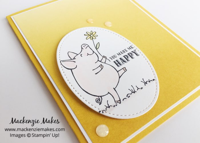 This Little Piggy Cards with Color Theory DSP – Check out 4 fun cards featuring the This Little Piggy stamp set and Color Theory DSP. | #mackenziemakes #makewithme #stampinup | www.mackenziemakes.com