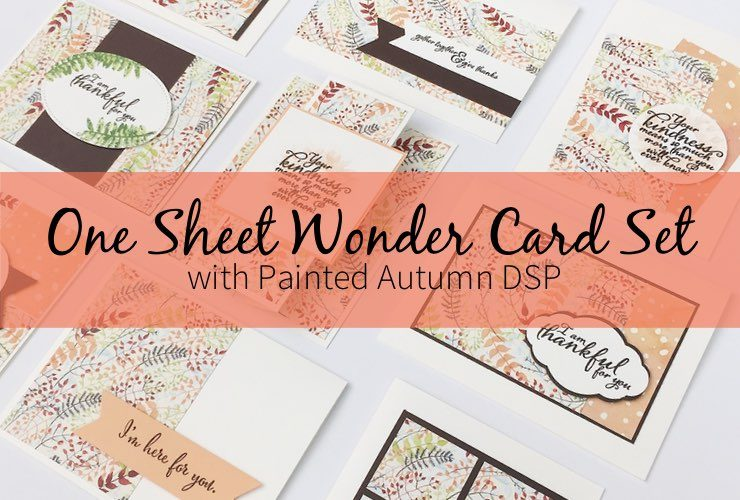 One Sheet Wonder Card Set with Painted Autumn DSP