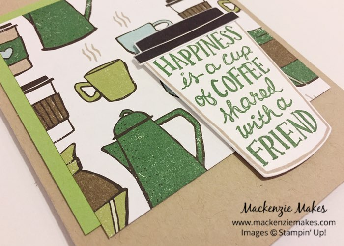One Sheet Wonder Card Set with Coffee Break DSP – Create 12 cards using 1 sheet of paper from the Coffee Break Designer Series Paper pack. Click through to learn how and to get the template design. | #mackenziemakes #makewithme #stampinup | www.mackenziemakes.com