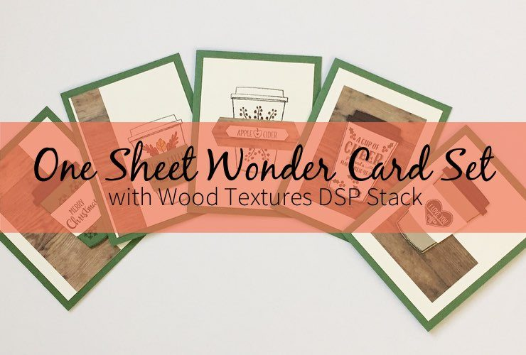 One Sheet Wonder Card Set with Wood Textures DSP Stack