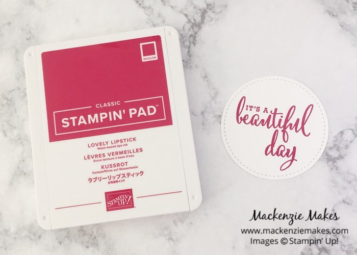 2018-2020 In Colors – Click through to see the new Stampin' Up! In Colors and learn how to make a quick card with the colors as the main feature. | #mackenziemakes #makewithme #stampinup | www.mackenziemakes.com