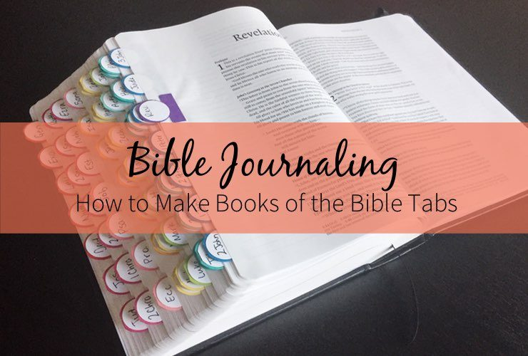 How to Make Books of the Bible Tabs