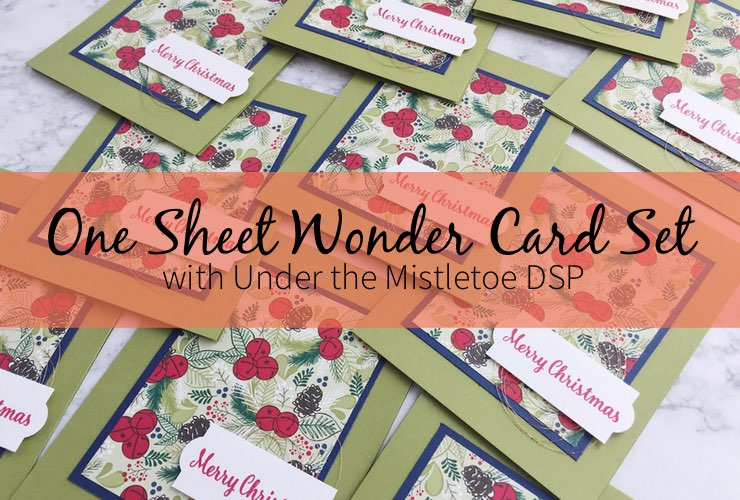 One Sheet Wonder Card Set with Under the Mistletoe DSP