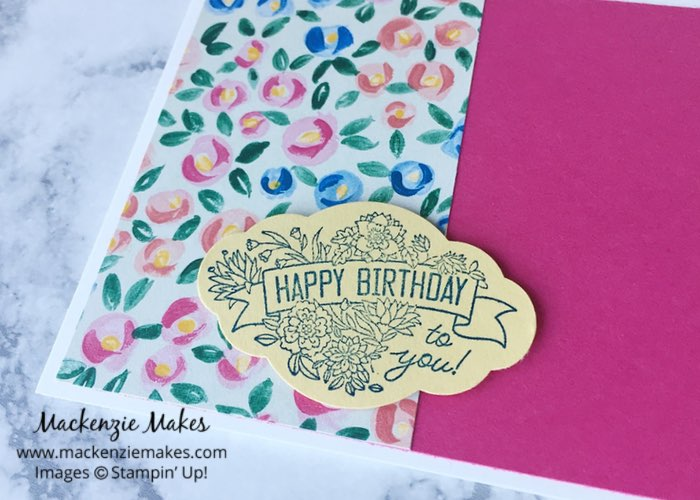 """One Sheet Wonder Card Set with Garden Impressions DSP – Create 5 cards using 1 sheet of paper from the 6"""" x 6"""" Garden Impressions Designer Series Paper pack. Click through to learn how and to get the template design. 