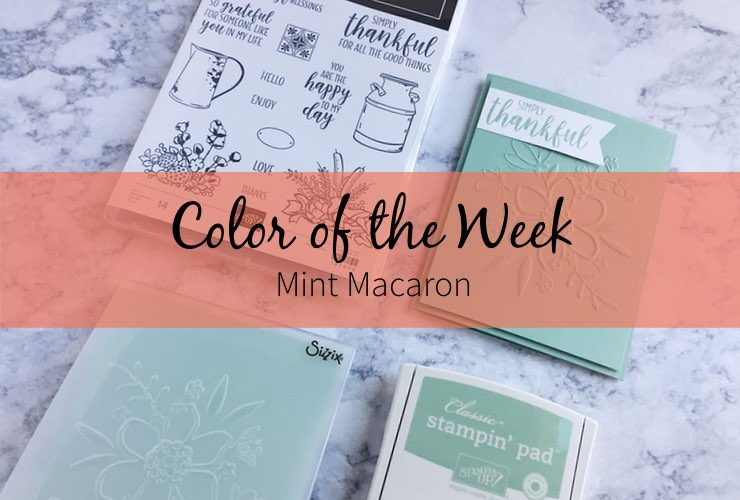 Color of the Week – Mint Macaron