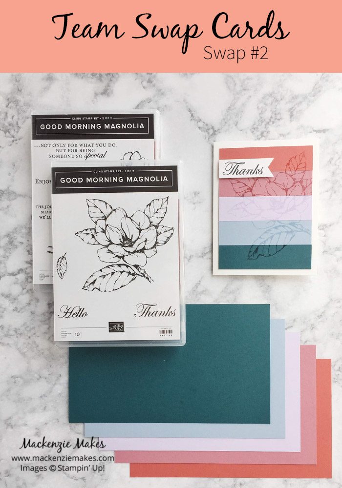 Team Swap Cards - Swap #2 – Click through to see how to make this fun card featuring the new 2019-2021 In Colors from Stampin' Up!   #mackenziemakes #stampinup   www.mackenziemakes.com