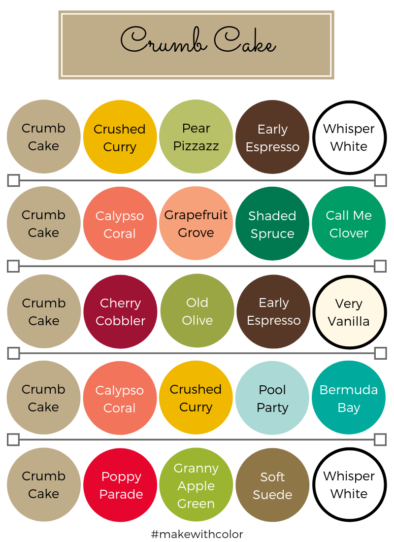 Color Combos Crumb Cake