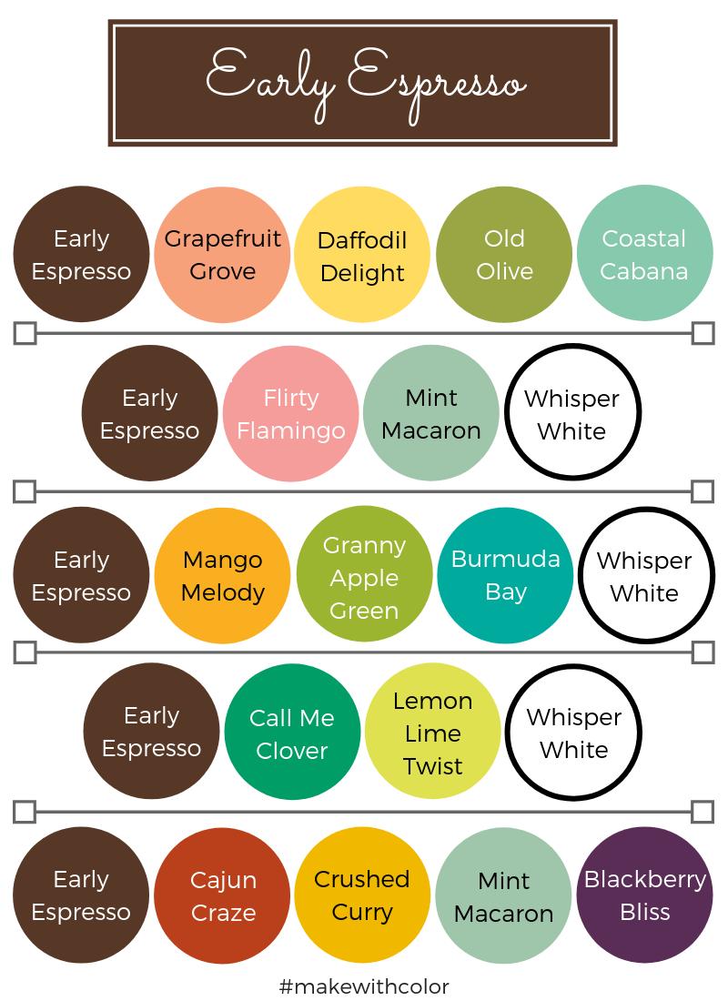 Color Combos Early Espresso