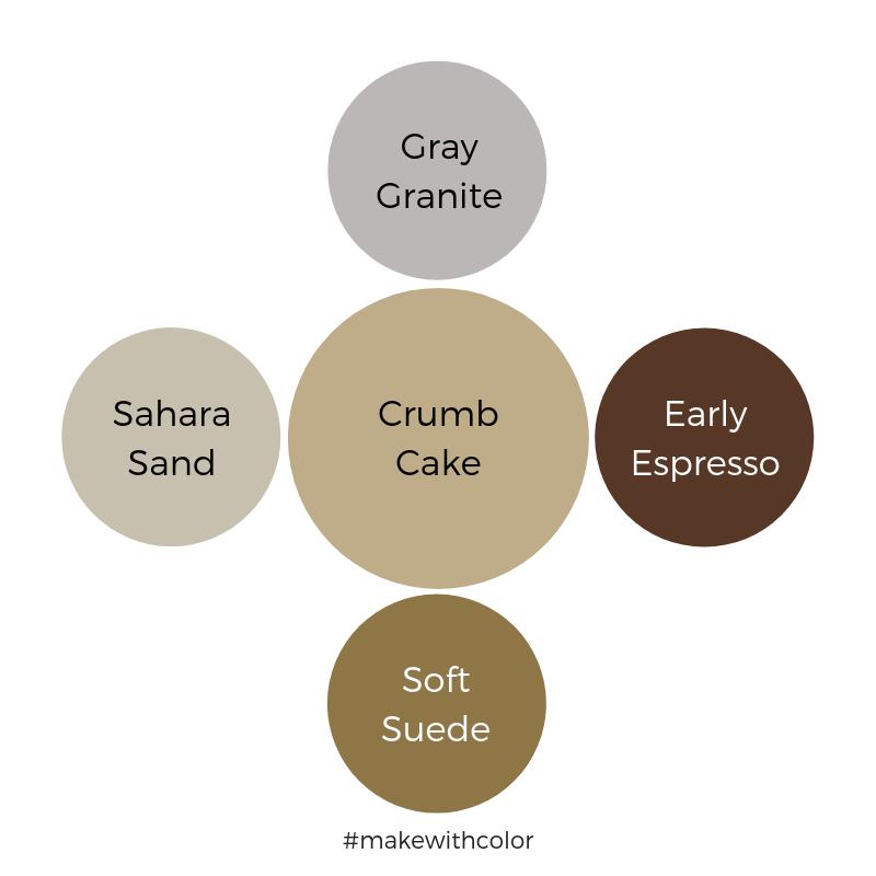 Color Comparison Crumb Cake