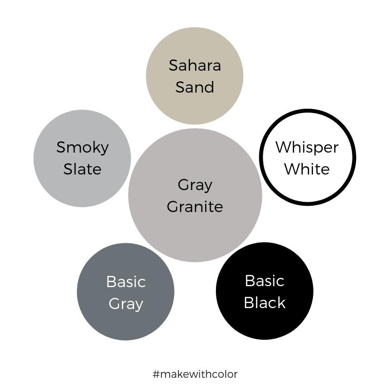 Color Comparison Gray Granite