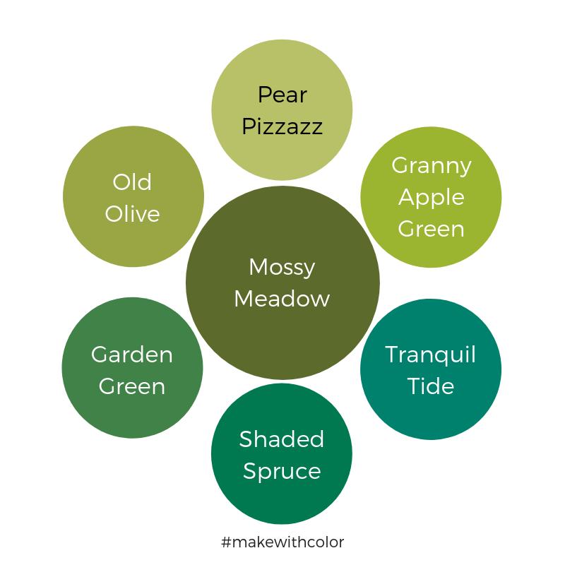 Color Comparison Mossy Meadow