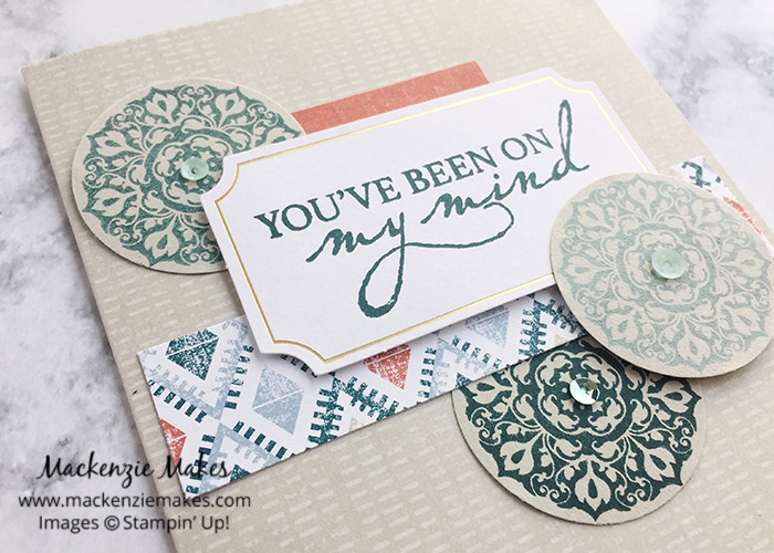 July 2019 Paper Pumpkin - On My Mind – Click through to see the July 2019 Paper Pumpkin cards and some alternate designs. | #mackenziemakes #stampinup | www.mackenziemakes.com