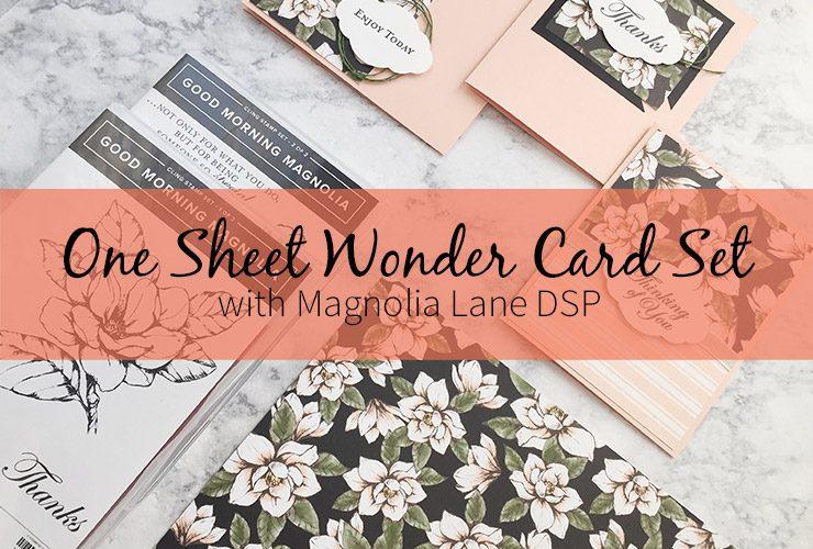 One Sheet Wonder Card Set with Magnolia Lane DSP