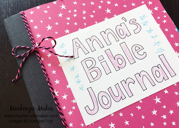How We Made Our Bible Journals – Click through to see how we made our Bible journals and how we are using them in our homeschool. | #mackenziemakes #stampinup | www.mackenziemakes.com