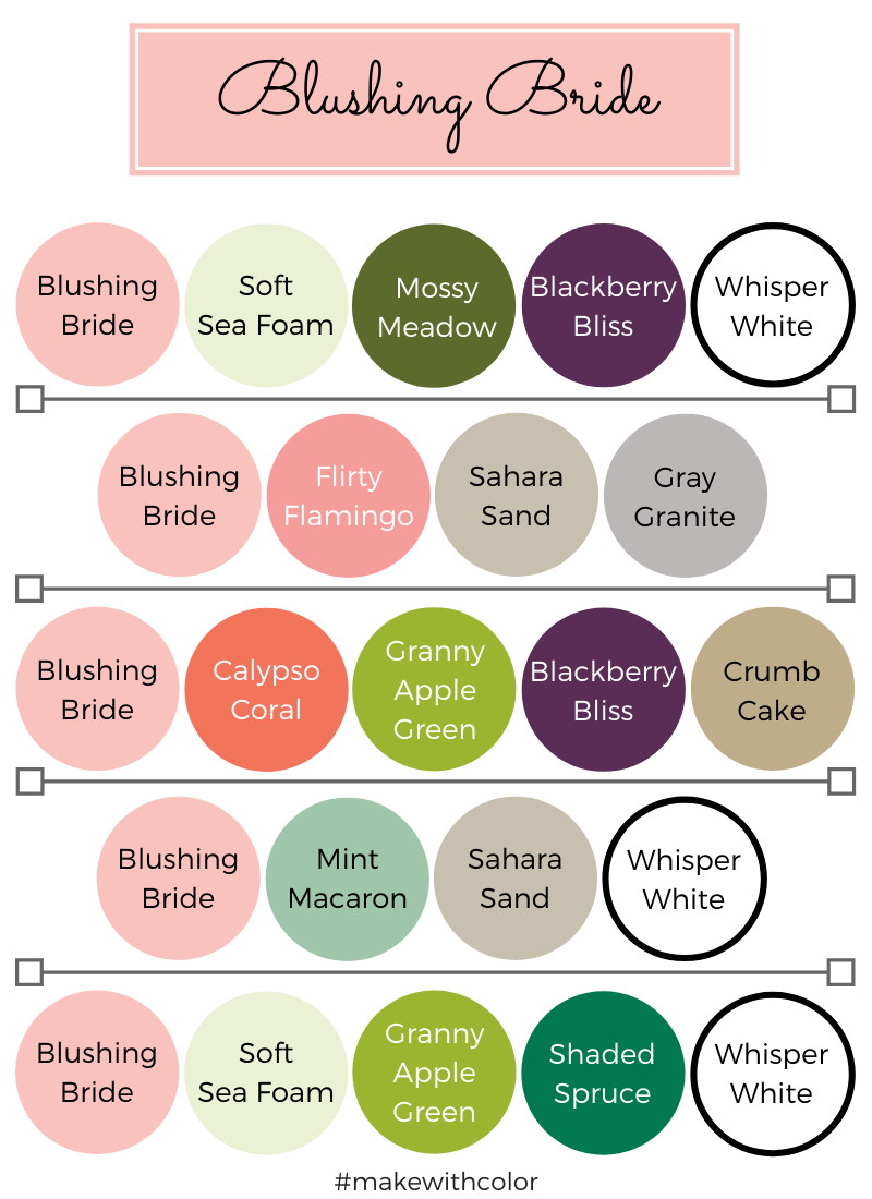 Color Combos Blushing Bride