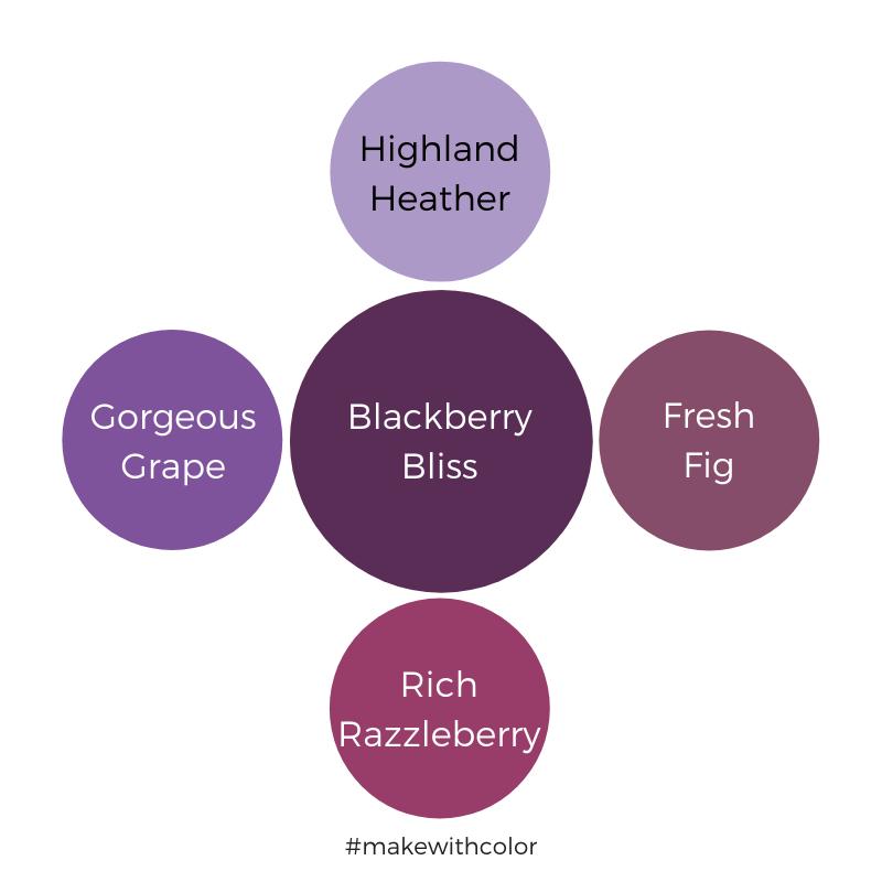 Color Comparison Blackberry Bliss