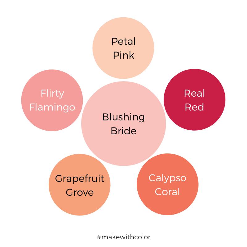 Color Comparison Blushing Bride