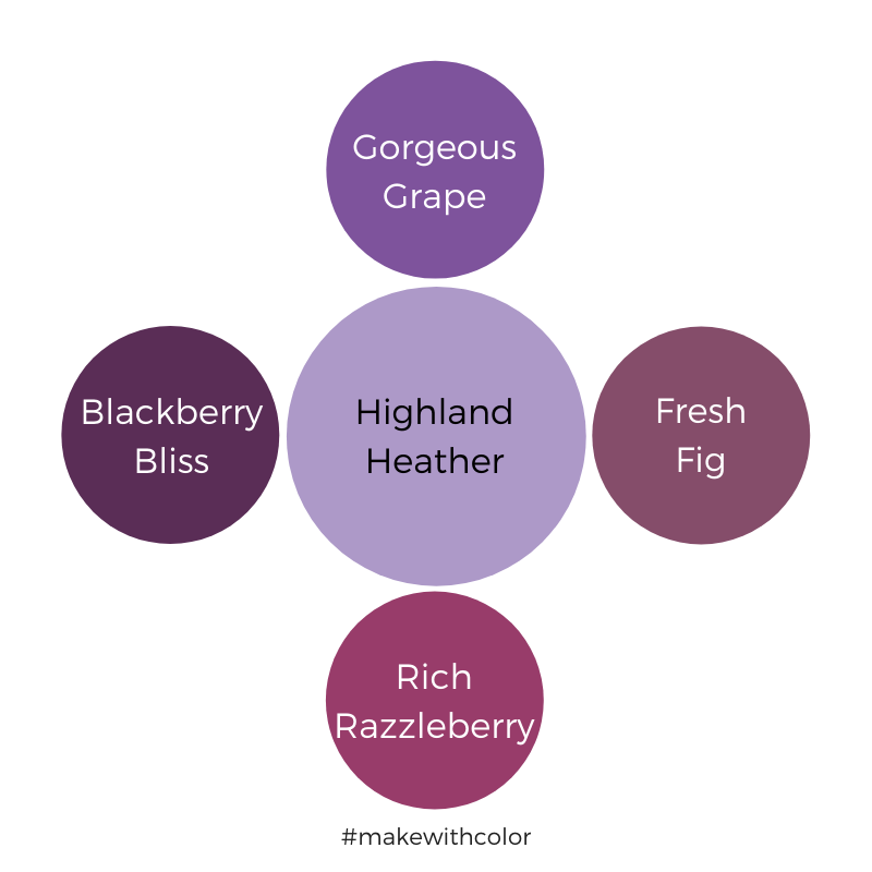 Color Comparison Highland Heather