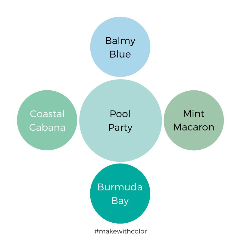 Color Comparison Pool Party