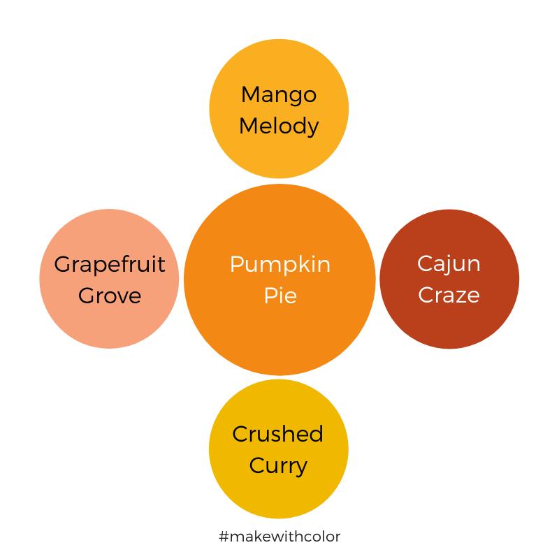 Color Comparison Pumpkin Pie