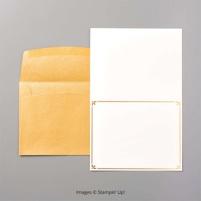 Gold Cards and Envelopes