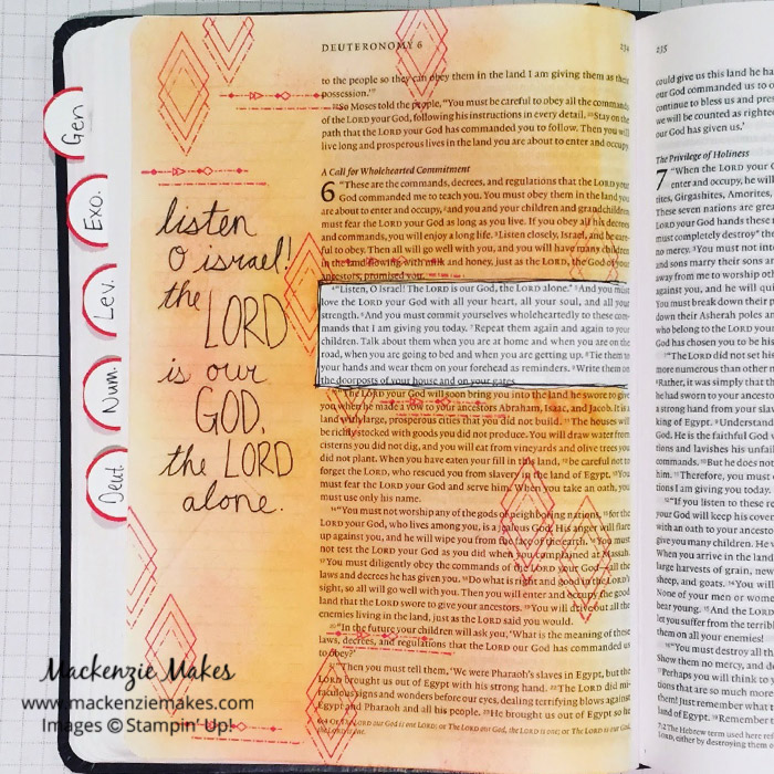 My Top 10 Stampin' Up! Supplies for Bible Journaling – Click through to see which Stampin' Up! supplies are my go to items when making art in my Bible journals. | #mackenziemakes #stampinup | www.mackenziemakes.com
