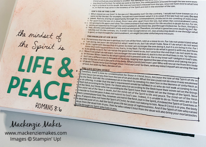 Bible Journaling - Adding Die Cut Letters – Click through to learn how to add die cut letters to your Bible journaling pages. | #mackenziemakes #stampinup | www.mackenziemakes.com
