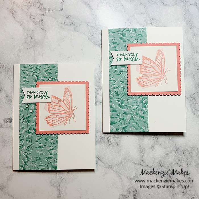 Friday Craft Time Video - A Touch of Ink Card – Click through to learn how to make a cute card featuring the A Touch of Ink stamp set available in the Sale-A-Bration Brochure. | #mackenziemakes #stampinup | www.mackenziemakes.com