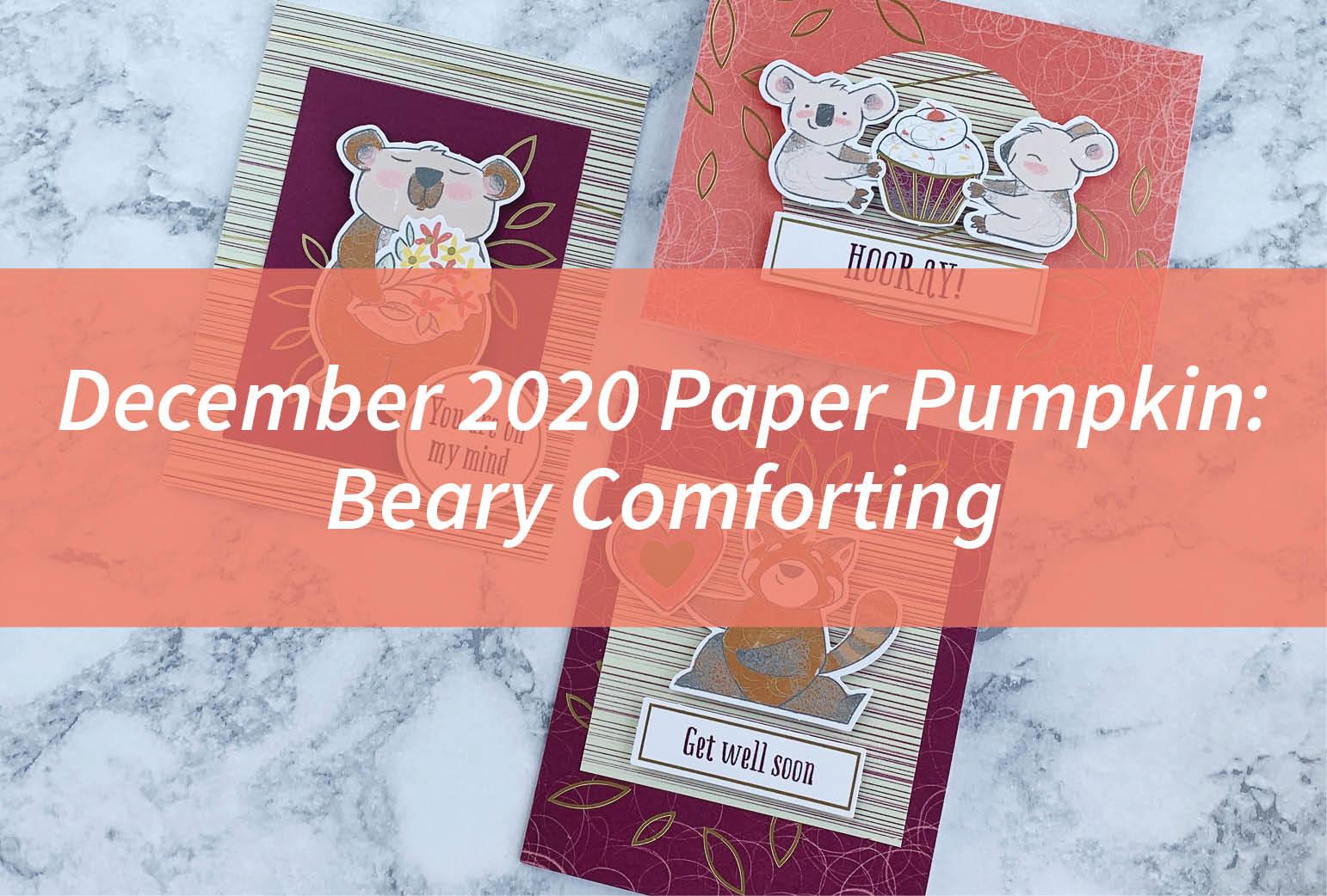 December 2020 Paper Pumpkin: Beary Comforting