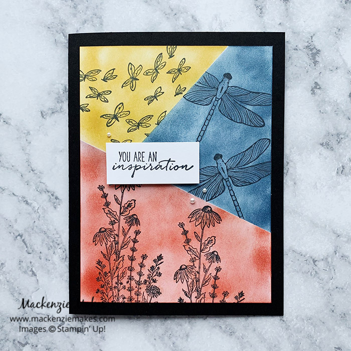 March 2021 Technique Blog Hop - Masked Grid – Click through to learn how to make a card featuring the Masked Grid technique. | #mackenziemakes #stampinup | www.mackenziemakes.com