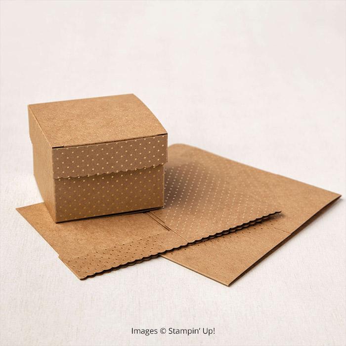 Scalloped Kraft Treat Boxes